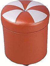 HZYDD Fashion Upholstered Ottoman Leather Stool