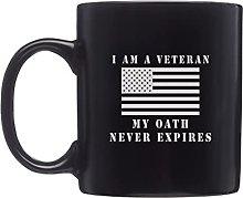 I am a Veteran My Oath Never Expires Shot Glass
