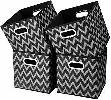i BKGOO Cloth Storage Bins Set of 4 Thick Fabric