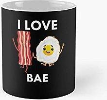 I Love Bae Bacon and Egg Tshirt Classic Mug -