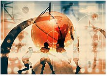 I love basketball! Semi-Gloss Paste the Wall Mural