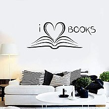 I Love Books Wall Decal Lettering Vinyl Window