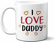 I Love Daddy - Gold Hearts 15oz Ceramic Mug
