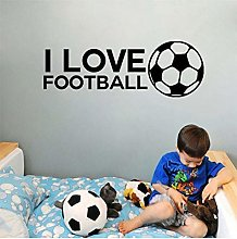 I Love Football Decals Quotes for Children Bedroom