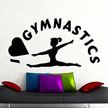 I Love Gymnastics Wall Decals Sports Fitness Gym