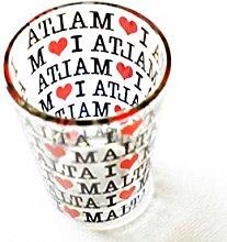 I Love Malta Shot Glass (Cool and Stylish Design),