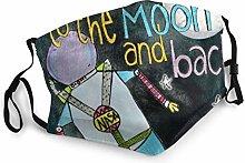 I Love You To The Moon Back Astronaut Bandana Face