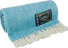 I LUV LTD Herringbone Throw Blanket Wool Rug