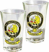 I LUV LTD Tequila Slammer Shot Glass Campbell Clan