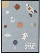 I need More Space Framed poster - / L 52 x H 72 cm