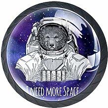 I Need More Space Galaxy Purple Cabinet Door Knobs