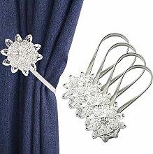IAGORYUE Curtain Tie Backs 4 Pieces, Crystal