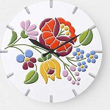 ian huan88 12 Inch Wooden Wall Clock Kalocsa