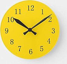 ian huan88 12 Inch Wooden Wall Clock School Bus