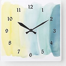 ian huan88 12 Inch Wooden Wall Clock Yellow and