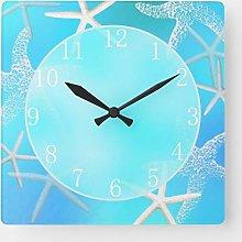 ian huan88 15 by 15-Inch Wall Clock, Aquamarine