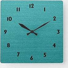 ian huan88 15 by 15-inch Wall Clock, Brushed Teal