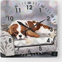 ian huan88 15 by 15-Inch Wall Clock, Cavalier King
