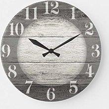 ian huan88 15 by 15-Inch Wall Clock, Driftwood