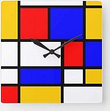 ian huan88 15 by 15-Inch Wall Clock, Mondrian