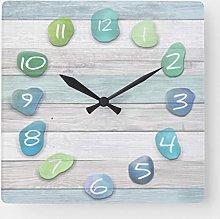 ian huan88 15 by 15-inch Wall Clock, Sea Glass