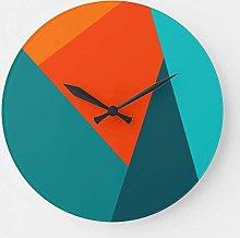 ian huan88 15 by 15-Inch Wall Clock, Teal Orange
