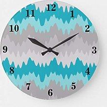 ian huan88 15 by 15-Inch Wall Clock, Teal