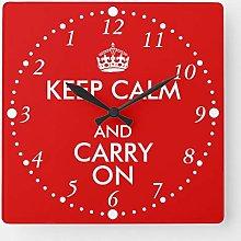 ian huan88 15 Inch Wooden Wall Clock, Always Late