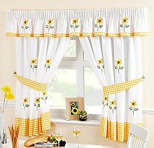Ians Emporium Sunflower Yellow Voile Curtain Panel