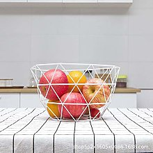 IANSISI Metal Wire Fruit Plate Kitchen Living Room