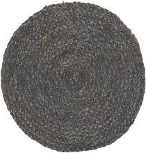 Ib Laursen - Dark Gray Round Jute Placemat