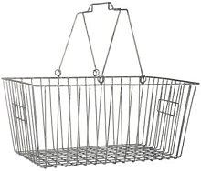 Ib Laursen - Grey Wire Shopping Basket - grey -