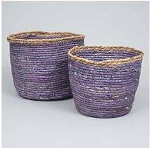 Ib Laursen - Set of 2 Storage Basket in Blue Lilac
