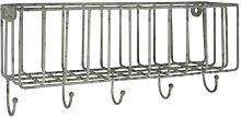 Ib Laursen - Wall Storage Basket with 5 Hooks