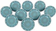 IBA Indianbeautifulart Bondi Blue Geometric