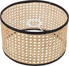 ibasenice Rattan Lamp Shade Weave Drum Shade
