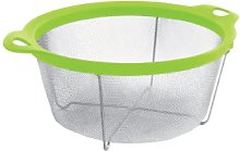 IBILI Colander, Stainless Steel, Green/Silver, 20