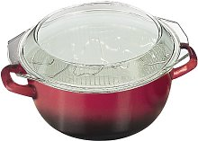 IBILI Volcán Frying Set, Red/Transparent/Silver,