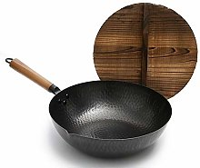 ICDOT 12.5inch Cooking Pots Pans Traditional Hand