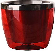 Ice Bucket, Double-Walled Stainless Steel Wine