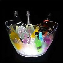 Ice Buckets for Bars Led Rechargeable Ice Buckets