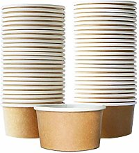 Ice-Cream Cups - 50-Count 9oz Hot/Cold Kraft Paper