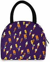 Ice Cream forzen Sucker Pattern Portable Lunch Bag