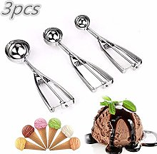 Ice Cream Scoops Stainless Steel Cookie Scoops Ice