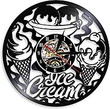 Ice cream shop commercial logo wall clock kitchen