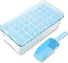 Ice cube tray with lid and ice bucket | Silicone