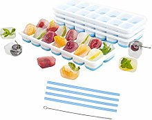 Ice Cube Trays with Lids - BPA Free Silicone