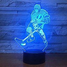 Ice Hockey Game 3D Lamp Visual Led Night Lights