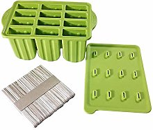 Ice Lolly Mould 12 Pieces Reusable Silicone
