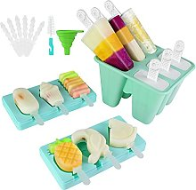 Ice Lolly Moulds, 3 Pack Silicone Popsicle Mold,